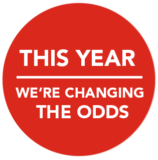 This year we're changing the odds
