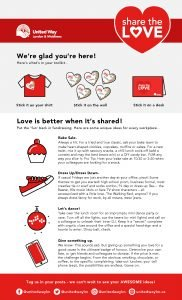Share the Love Instruction Poster