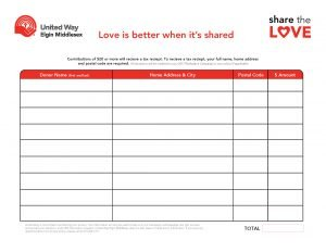 Share the Love pledge form