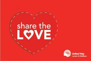 Share the love donation card