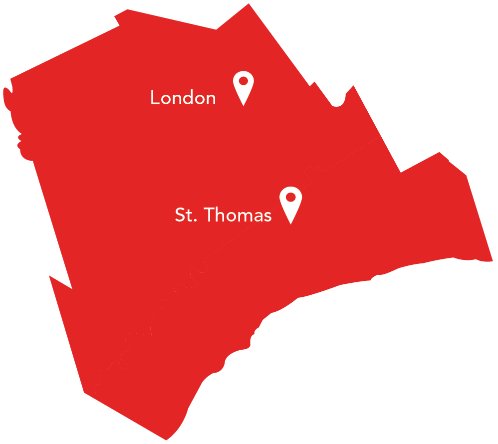 United Way Elgin Middlesex - regional map
