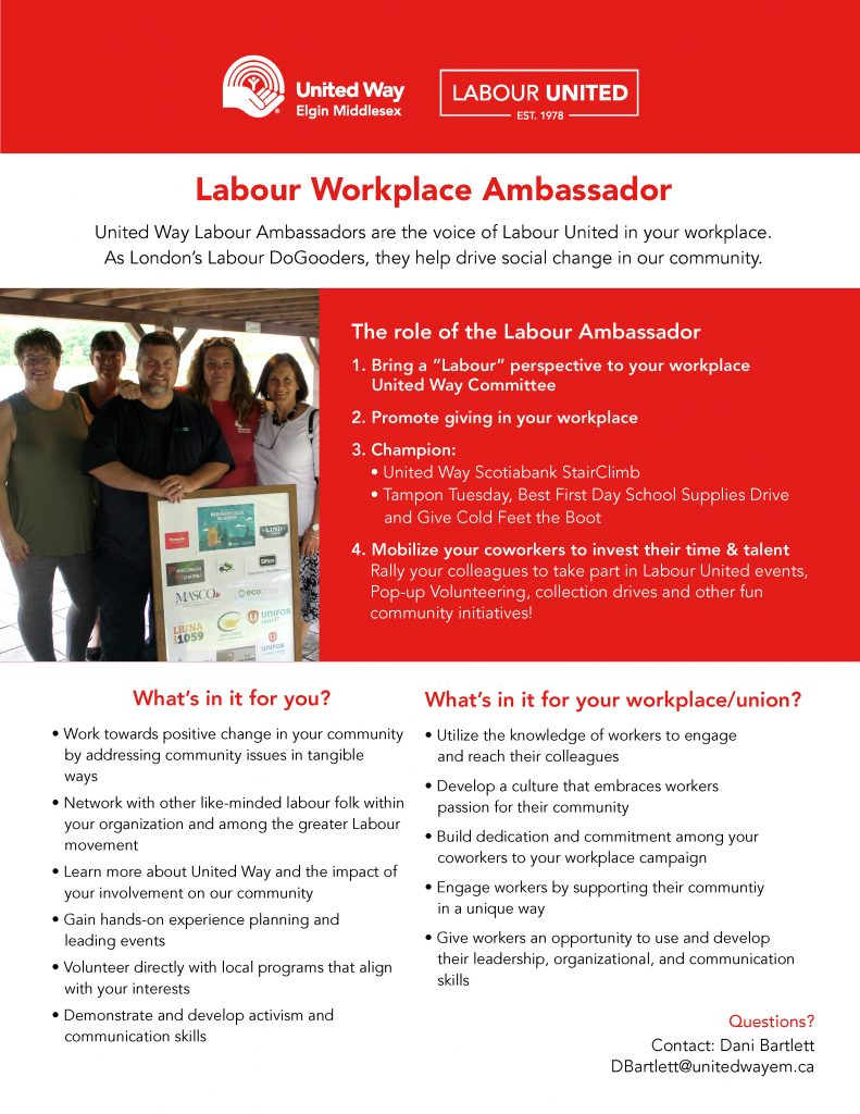 Labour United Ambassador one pager