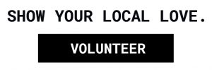 Show your local love black volunteer logo