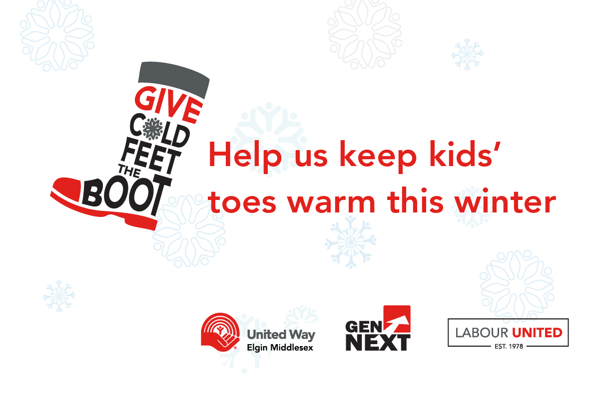 Give Cold Feet the Boot collection drive banner image