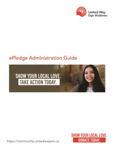 ePledge Administration booklet cover image