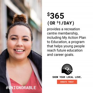 PROOF POINT- $365 provides a recreation membership, including My Action Plan to Education, a program that helps young people reach future education and career goals.