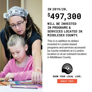 In 2019/20, $497,300 will be invested in programs & services located in Middlesex County.