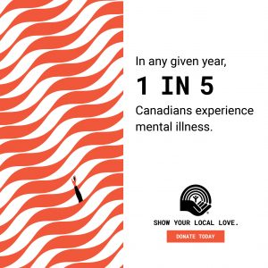 STAT- In any given year 1 in 5 Canadians experience mental illness.