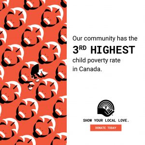STAT- Our community has the 3rd highest child poverty rate in Canada.