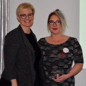 Alex - Labour Appreciation Award Winner and Kelly Ziegner