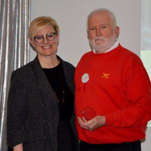 Joe - United Experience award winner and Kelly Ziegner