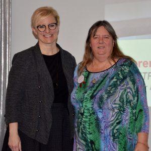 Karen - Labour Appreciation award winner and Kelly Ziegner