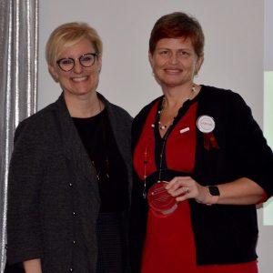 LoriAnne - Labour Appreciation award winner and Kelly Ziegner
