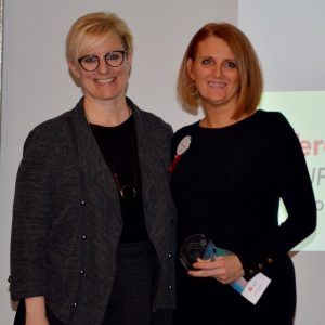 Theresa - Labour Appreciation Award Winner and Kelly Ziegner