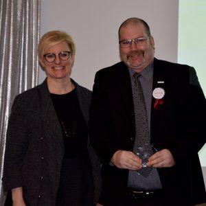 Tim - Labour Appreciation Award Winner and Kelly Ziegner