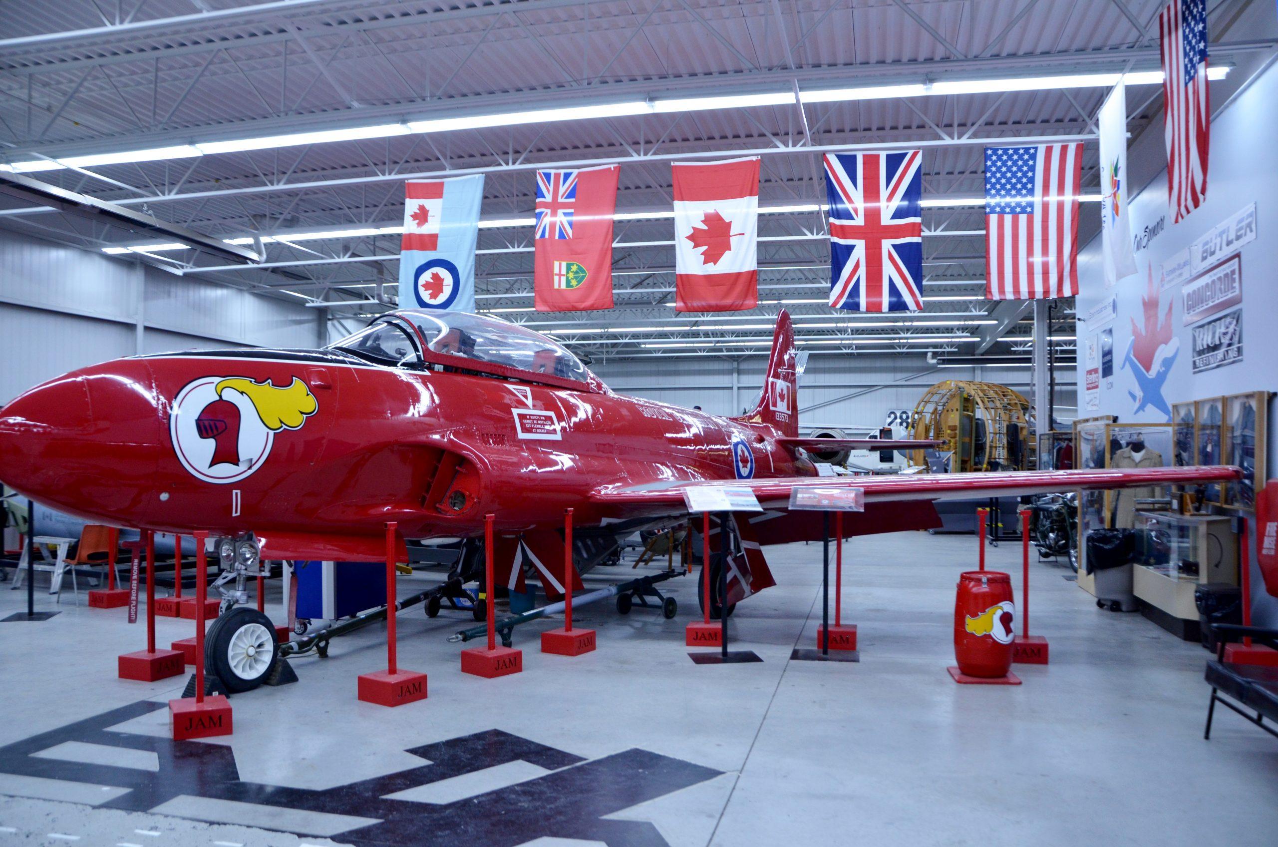 Jet Air Craft Museum, red plane image