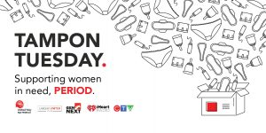 Tampon Tuesday web event banner
