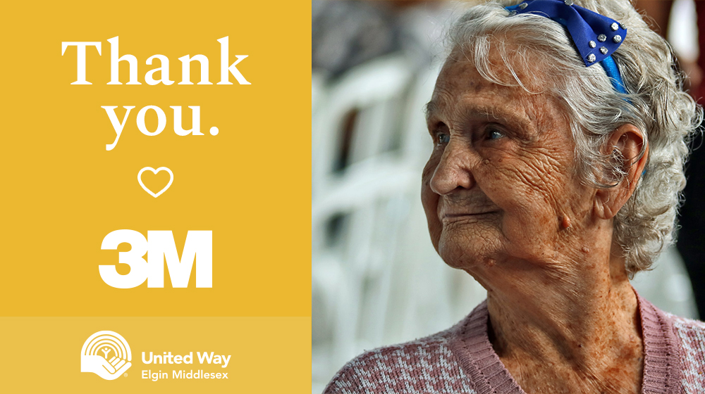 Thank you 3M Canada, $50,000 donation to United Way's Local Love in a Global Crisis community response fund