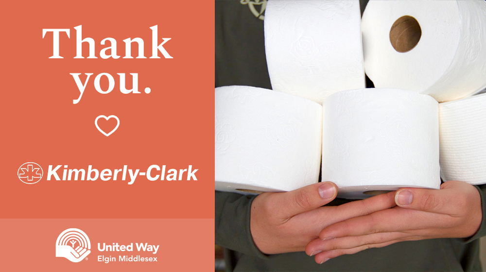 Thank you Kimberly-Clark