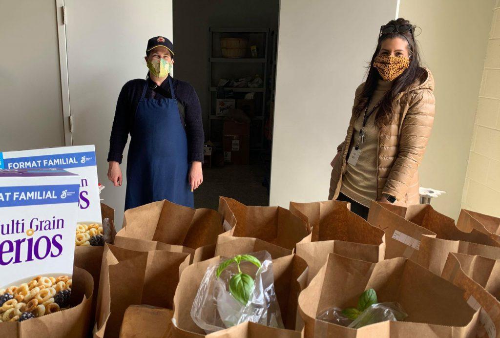 Megan Komenda, GDLS employee, volunteering
