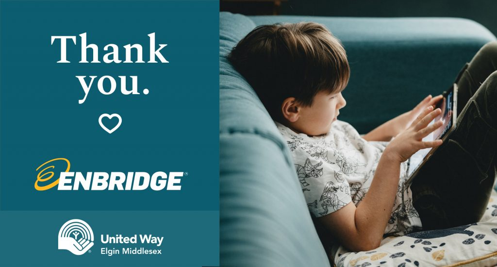 Thank you Enbridge for your donation