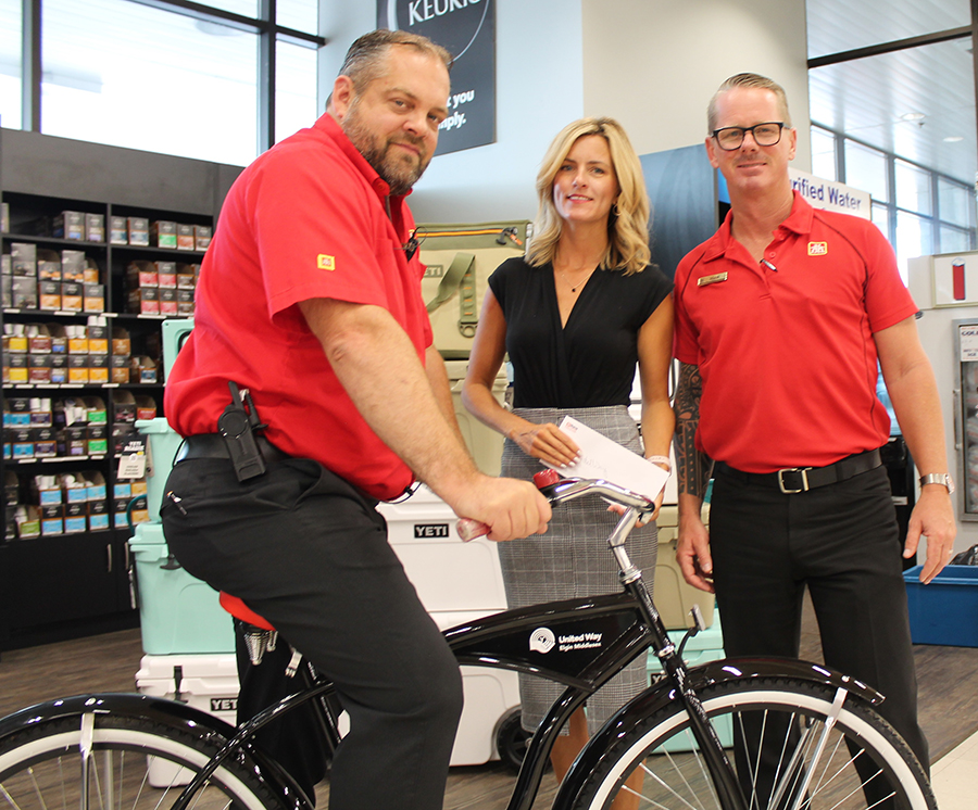 Share the Ride bike in support of United Way Elgin Middlesex