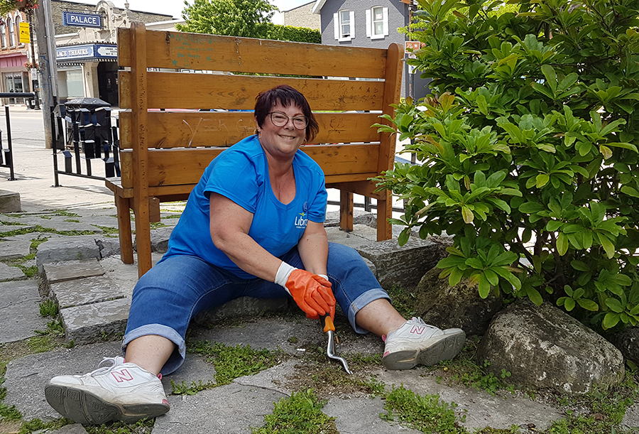 Sandy, Libro employee working Unity Project for Day of Caring