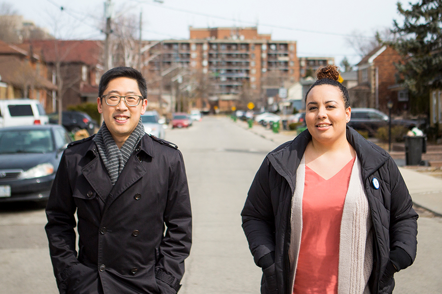 Zoe and Cecil, program participant and donor