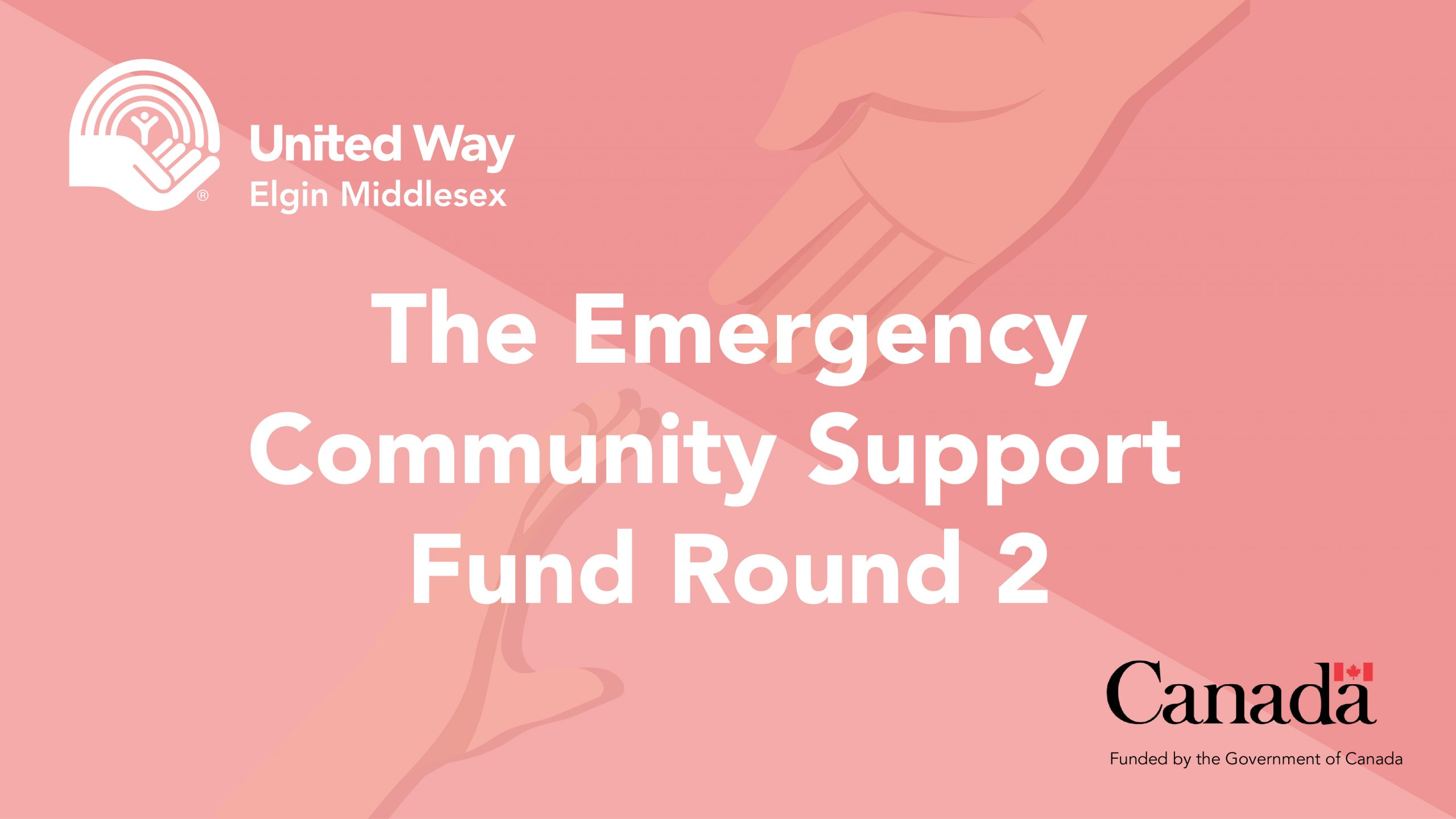 Emergency Community Support Fund round two announcement