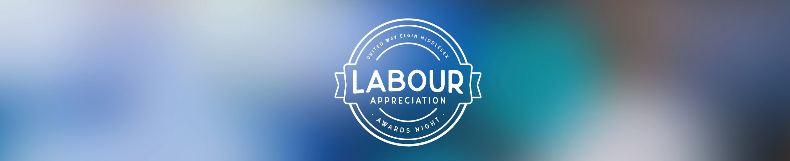 Labour Appreciation Awards Night logo with blurred background