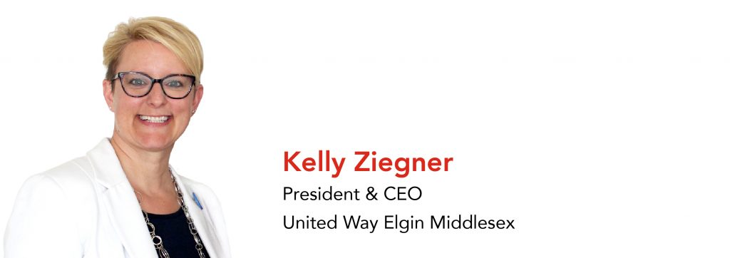 Kelly Ziegner, President & CEO United Way Elgin Middlesex