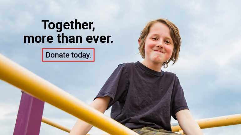 Together, more than ever. Donate today