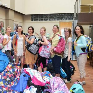 Middlesex London Health Unit at Backpack drive