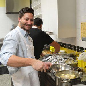 Sandler Training cooking meals