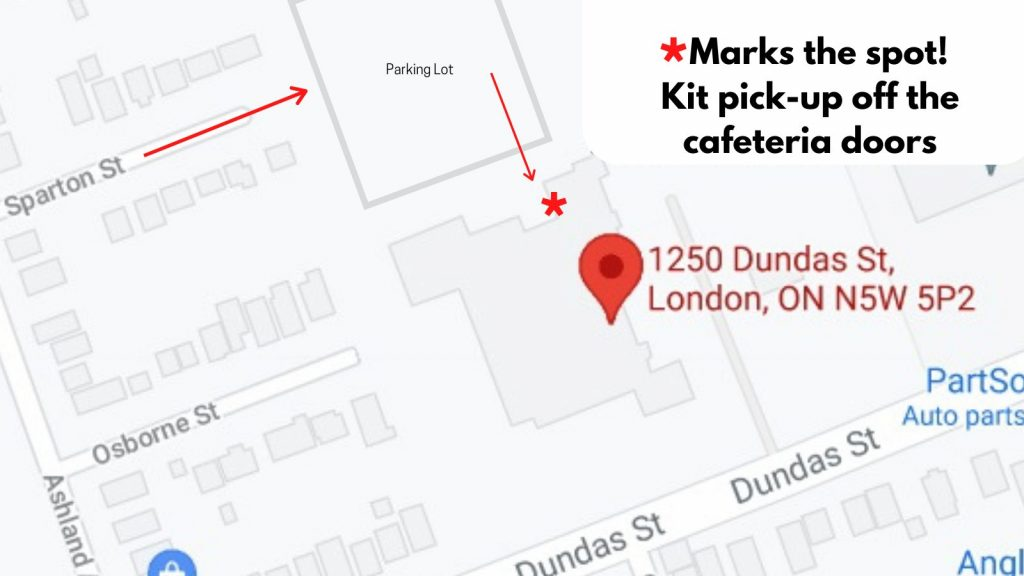 Thames Valley Education Foundation drop off location map