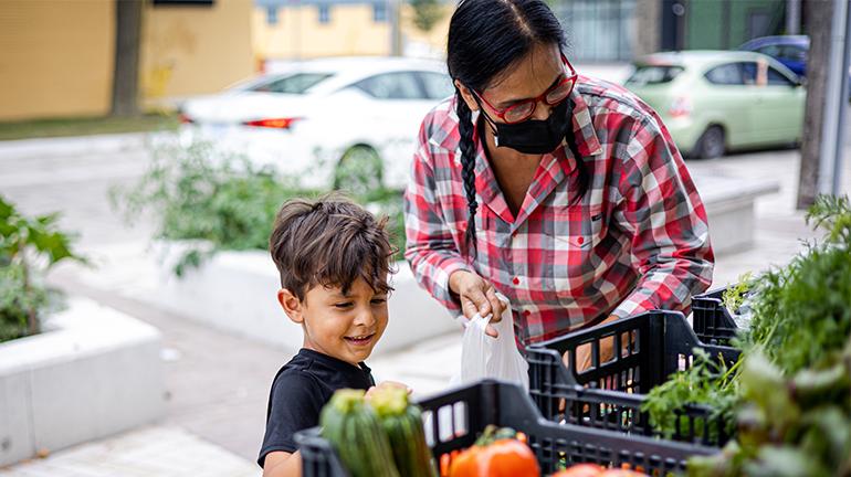 Crouch Neighbourhood Resource Centre, outdoor market